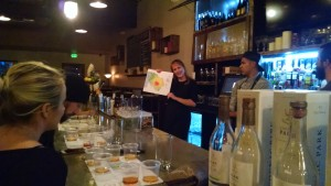 Naomi discussing the Cognac regions